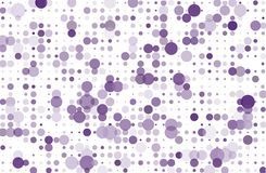 Dotted background with circles, dots, point different size, scale. Halftone pattern Vector illustration  Violet, purple color Royalty Free Stock Photos