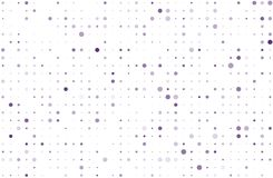 Dotted background with circles, dots, point different size, scale. Halftone pattern Vector illustration  Violet, purple color Royalty Free Stock Photo