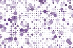 Dotted background with circles, dots, point different size, scale. Halftone pattern Vector illustration  Violet, purple color Stock Photography