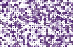 Dotted background with circles, dots, point different size, scale. Halftone pattern. Violet color Vector illustration Stock Images