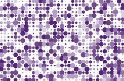 Dotted background with circles, dots, point different size, scale. Halftone pattern. Violet color Vector illustration. Dotted background with circles, dots Royalty Free Stock Photo