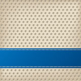 Dotted background with 3d effect. Dotted background design with 3d effect and blue ribbon stock illustration