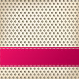 Dotted background design with 3d effect Royalty Free Stock Photography