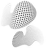 Dotted background morphing vector design Stock Images