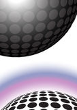 Dotted ball background Stock Images
