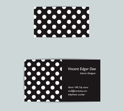 Dotted business card design. Royalty Free Stock Photo