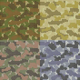 Dotted Camouflage Patterns Royalty Free Stock Images
