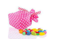 Dotted Candy Bag Stock Image