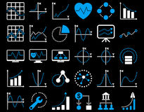 Dotted Charts Icons Royalty Free Stock Photography