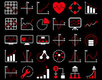 Dotted Charts Icons Stock Photos