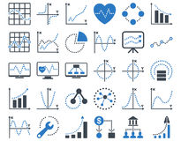 Dotted Charts Icons Stock Images