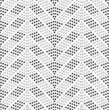 Dotted chevron with dark and light dots Stock Photos