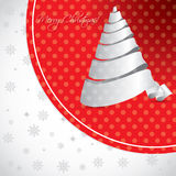 Dotted christmas background design with white tree Royalty Free Stock Images