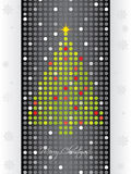 Dotted christmas card Stock Images