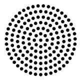 DOTTED CIRCLE. HALFTONE DESIGN ELEMENTS. ISOLATED VECTOR ON WHITE BACKGROUND. DOTTED CIRCLE IN WHIRL. TWIST ROUND. SHADOW POINT. HALFTONE DESIGN. BANNER Royalty Free Stock Photos