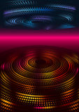 Dotted circular layers. Background with two dotted circular layers and horizon stock illustration