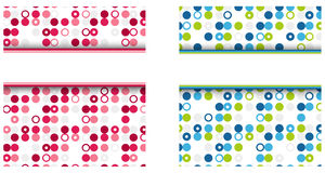 Dotted colorful background Stock Photo