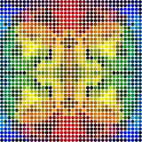 Dotted colorful rainbow mosaic (seamless pattern) Stock Photos