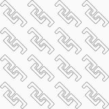 Dotted diagonal fastened arcs Royalty Free Stock Image
