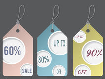 Dotted discount labelset Stock Image