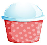 A dotted disposable container Royalty Free Stock Images