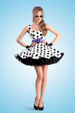 Dotted dress. Royalty Free Stock Photo