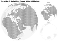 Dotted Earth Globe with Central View of Europe royalty free illustration