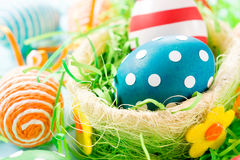 Dotted easter egg Stock Photography