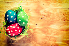 Dotted easter egg Stock Image