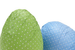 Dotted Easter Eggs. Isolated on white background Stock Image