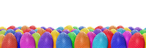 Dotted Easter eggs banner Stock Photo