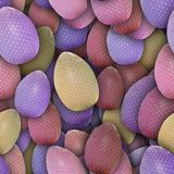 Dotted Easter eggs (Seamless texture) Stock Photography