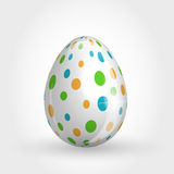 Dotted egg Stock Image