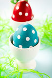Dotted eggs Stock Photography