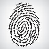 Dotted Finger Print Stock Images