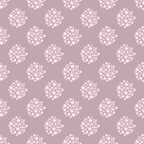 Dotted floral seamless pattern. Stock Photos