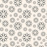 Dotted floral seamless pattern. Ornamental floral background. Stock Images