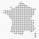 Dotted France Map Stock Image