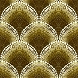 Dotted geometric pattern in art deco style Stock Photo