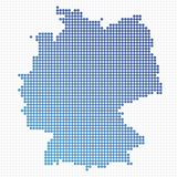 Dotted Germany Map Royalty Free Stock Photography