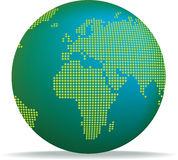 Dotted globe Royalty Free Stock Images