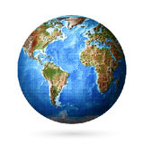 Dotted globe of the world. Stock Photo