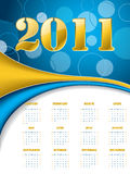 Dotted golden calendar Royalty Free Stock Photography
