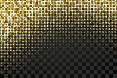 Dotted golden pattern over transparent background Royalty Free Stock Photos