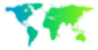 Dotted green abstract world map. Dotted green abstract world map on white background. Vector illustration stock illustration