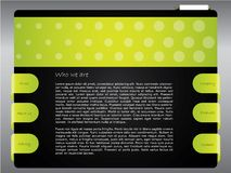 Dotted green website template Royalty Free Stock Photography