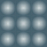 Dotted Grid With Spherical Shapes. Stock Photo