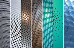 Dotted grounds. Collection of highlighted and focused grounds with modern dots Stock Image