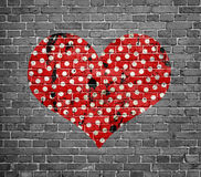 Dotted grunge heart Stock Image