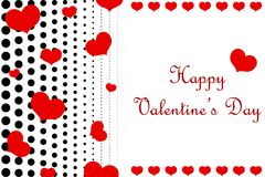 Dotted Happy Valentine`s Day background. royalty free stock images